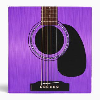 Purple Acoustic Guitar Vinyl Binders
