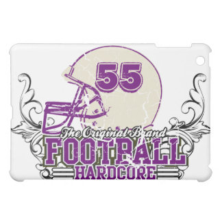 Purple Add Number Football Helmet  Cover For The iPad Mini
