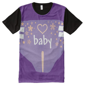 Purple Adult Baby/ABDL/Baby 4 Life All-Over-Print T-Shirt