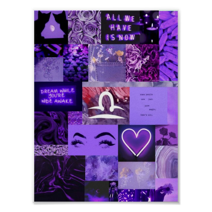 purple aesthetic libra poster zazzle com purple aesthetic libra poster zazzle com