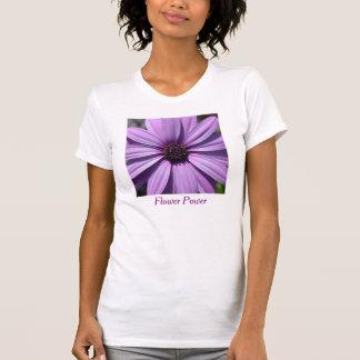 Purple Afican Daisy Flower Power Women's T Shirt