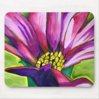 Purple African Daisy flower Mouse Pad
