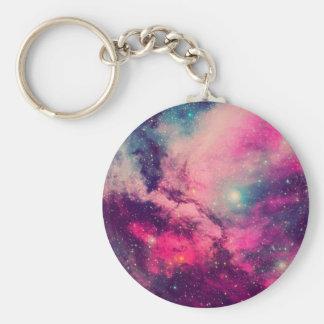 Purple Afterglow Galaxy Keychain