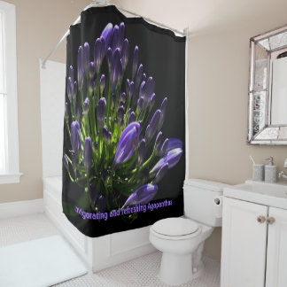 Purple Agapanthus, African Lily Luxury Shower Curtain