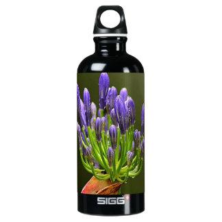 Purple Agapanthus Aluminum Water Bottle