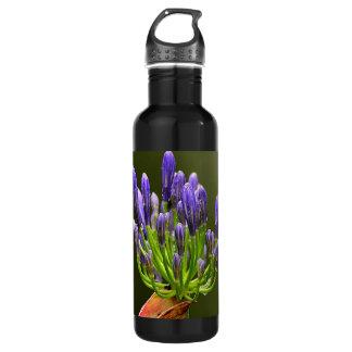 Purple Agapanthus Water Bottle