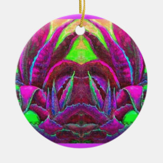 Purple Agave Desert Gifts by Sharles Ceramic Ornament
