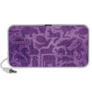 Purple Aged and Worn Animal Kingdom Pattern Speaker