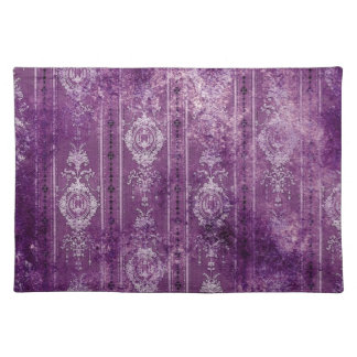 purple aged wallpaper placemats