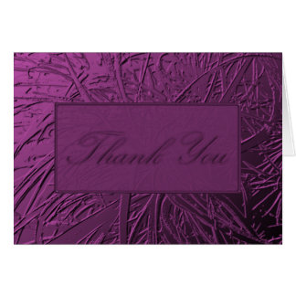 Purple Air Plant Relief Stationery Note Card