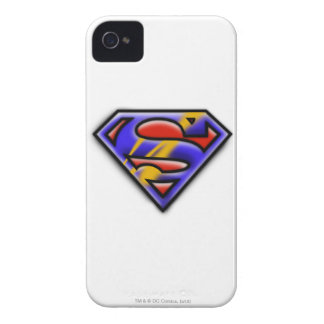 Purple Airbrush Superman Logo iPhone 4 Cover