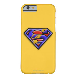 Purple Airbrush Superman Logo Barely There iPhone 6 Case