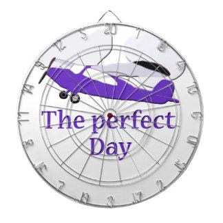 Purple airplane dart boards