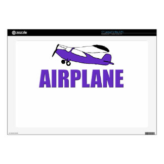 """Purple Airplane Decal For 17"""" Laptop"""