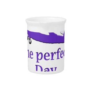 Purple airplane drink pitcher