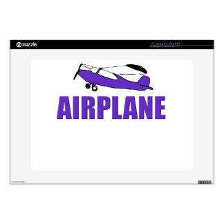 "Purple Airplane Skin For 15"" Laptop"