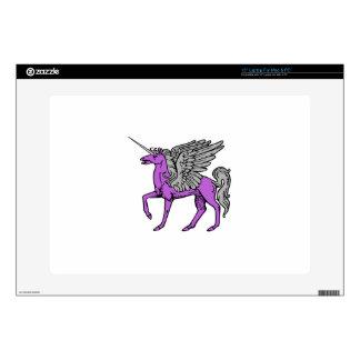 "Purple Alicorn/Pegacorn/Winged Unicorn Decals For 15"" Laptops"