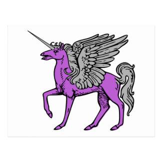 Purple Alicorn/Pegacorn/Winged Unicorn Postcard