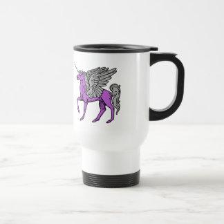 Purple Alicorn/Pegacorn/Winged Unicorn Travel Mug