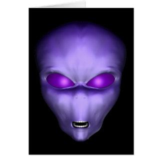 Purple Alien Card