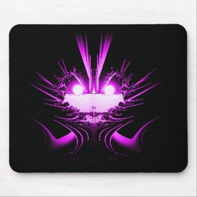 Purple Alien Creature Fractal Mousepad