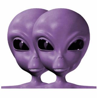 Purple Alien Duo Photo Sculpture Keychain
