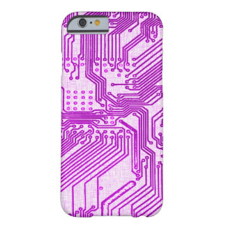 Purple Alien Grunge Circuit Board Design Barely There iPhone 6 Case