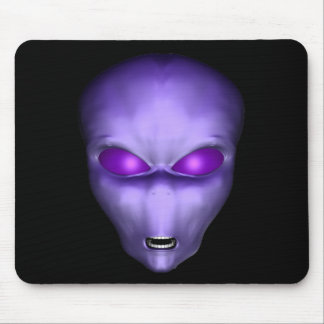 Purple Alien Mouse Pad