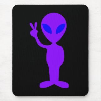 Purple Alien Mouse Pad