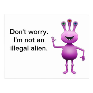 Purple Alien Postcard