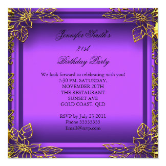 Purple All Occasions Elite Elegant Party Gold Card