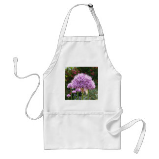 Purple Allium Flower Adult Apron