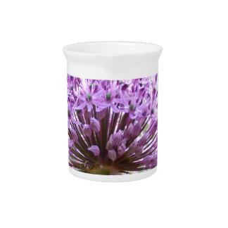 Purple Allium Flower Beverage Pitchers