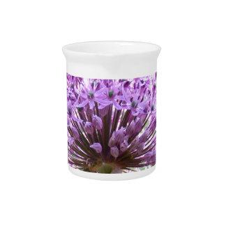 Purple Allium Flower Pitchers