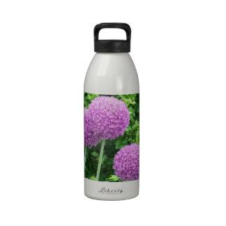 Purple Allium Flower Drinking Bottles