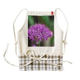 Purple Allium Flowers Zazzle HEART Apron