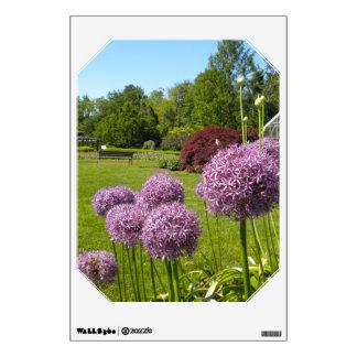 Purple Allium Globe Garden Wall Decal