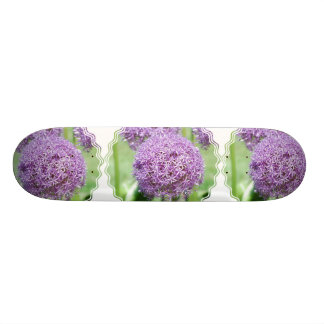 Purple Allum Flowers Skateboard