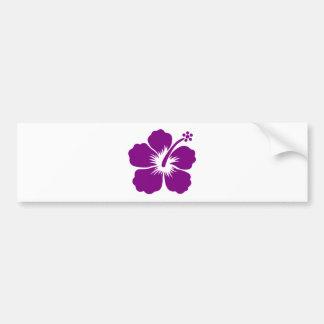 Purple aloha flower bumper stickers