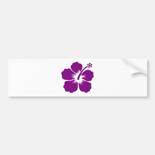 Purple aloha flower bumper sticker