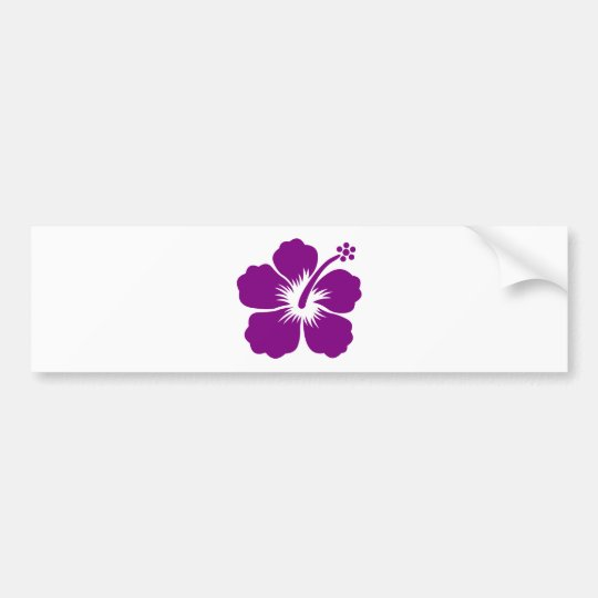 Purple aloha flower bumper sticker