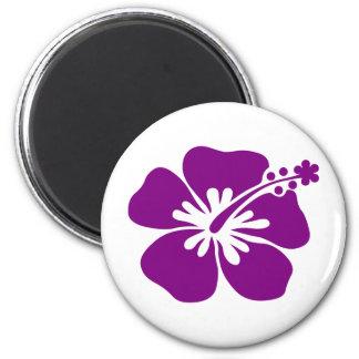 Purple aloha flower magnet