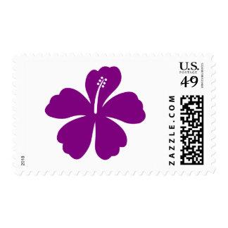 Purple aloha flower Stamps