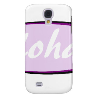 Purple aloha hibiscus design galaxy s4 cover