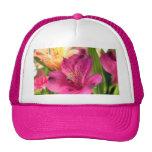 Purple Alstroemeria Flower Lilies Flowers Photo Trucker Hat
