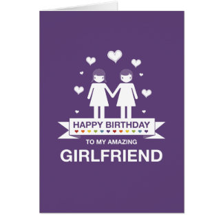Purple | Amazing Girlfriend | Happy Birthday Card