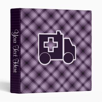 Purple Ambulance 3 Ring Binder