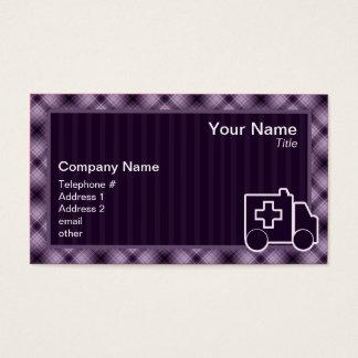 Purple Ambulance Business Card