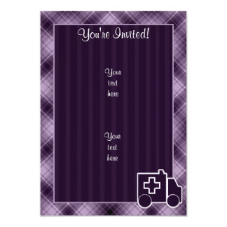 Purple Ambulance Personalized Invitations