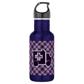 Purple Ambulance 18oz Water Bottle